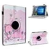 UC-Express Schutzhülle kompatibel für Archos 101 Platinum 3G Tablet Hülle Tasche Hülle Cover 360° Drehbar, Farbe:Motiv 1