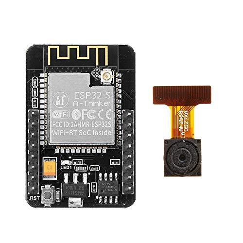 5V Esp32-Cam Esp32 Módulo inalámbrico de la Placa de Desarrollo WiFi con módulo de cámara Ov2640 CPU de 32 bits de bajo Consumo y Doble núcleo - Negro