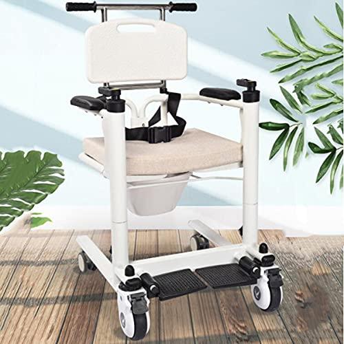 Silla de ruedas para elevación de pacientes para el hogar, rueda universal de 360 °, palanca de cambios para el hogar para ancianos con parálisis de enfermería