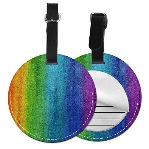 Luggage Tags Pride Flag Watercolours Awareness Suitcase Luggage Tags Business Card Holder Travel ID Bag Tag