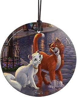 Trend Setters Disney – Aristocats – Thomas Kinkade Studios – Duchess and Thomas O'Malley – Suncatcher Hanging Glass Collectible