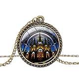 Colliers et pendentifs Rosace Vitrail de Paris Cathédrale Pendentif Collier Mode