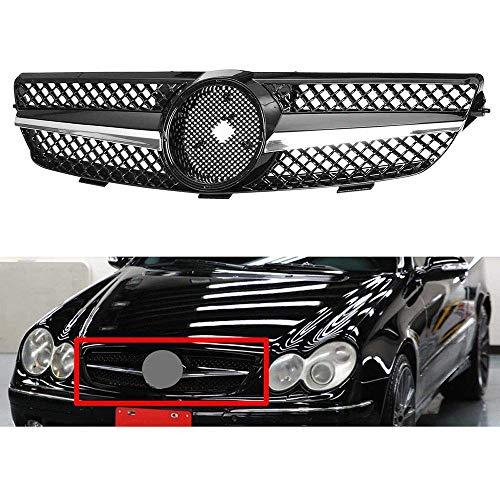 Rejilla Delantera de Coche, Parrilla de riñón ABS de Malla, Rejilla Frontal de capó para Mercedes Benz CLK Clase 320500 W209 2003-2009, Accesorios de Coche