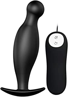 PNBB Anal Sex Toy,Vibrating Anal Trainer Butt Plug,Vibrating G-Spot Prostate Massager -12 Multi-Speed for Men, Women or Couples