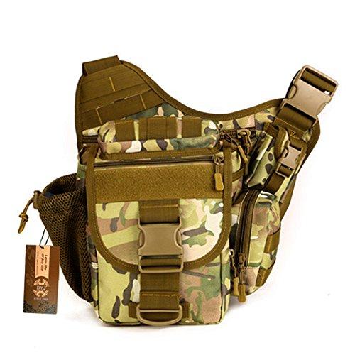 DYJ Multi-Functional Tactical Camera Messenger Bag Fishing Tackle Bag Military Shoulder Bag Backpack EDC Sling Pack for Hiking Camping Trekking Cycling