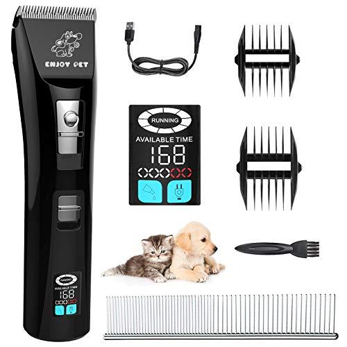 ACELIFE Tosatrice per Cani Professionale Kit,Cani Tagliacapelli Animali Tosatore per Cani Pelo Lungo Dog Grooming Clippers Kit - 4 pettini
