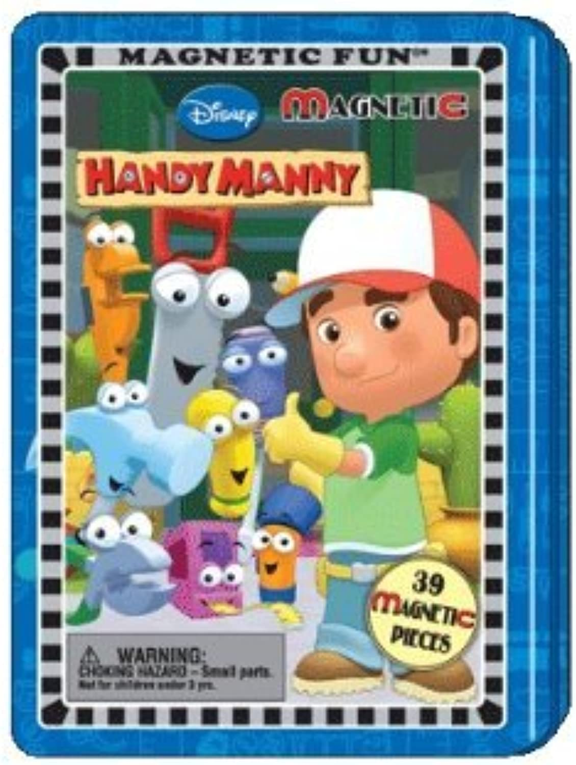 1 X Disney Handy Manny Magnetic Fun Tin