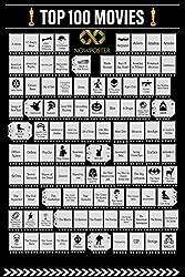 🎬 100 FILM PREMIATI AGLI OSCAR 🎬 DIVERTITI A VEDERE I FILM MIGLIORI MAI USCITI PER POI GRATTARLI NEL POSTER 🎬 OTTIMO REGALO PER APPASSIONATI DI CINEMA 🎬 POSTER DA APPENDERE DOVE VUOI 🎬 60 X 42 CM Movie Poster Bucket List Scratch off chart