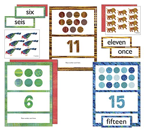 World of Eric Carle   Numbers Learning Cards   Bilingual, English and Spanish, 85ct
