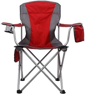 AGLZWY アウトドアチェア 折りたたみ 超軽量 耐荷重150kg コンパクト イス 椅子 収納袋付属 お釣り 登山 携帯便利 キャンプ椅子 キャンプ 運動会 釣り 登山 (色 : 赤, サイズ さいず : 45X47X94CM)
