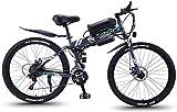 RDJM Bici electrica Bicicletas rápidas y Eléctrica en adultos eléctrica plegable Bicicleta todo terreno, motos de nieve 350W, 36V extraíble 8AH de iones de litio para, Suspensión premium for adultos c
