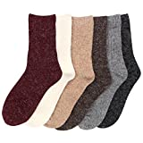 Womens 6 pairs Winter Warm Socks - Thick Knit Thermal Crew Socks