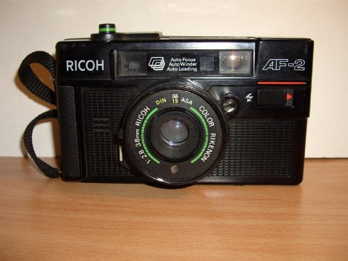 Ricoh AF-2 35mm Filmed Camera 1:2.8 38mm Ricoh Color Rikenon 35mm Filmed Flash Camera