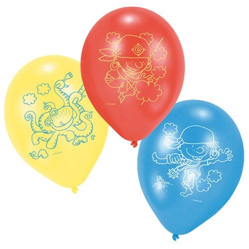Riethmuller - R450150 - 6 Ballons Pirates - Circonférence 75 Cm