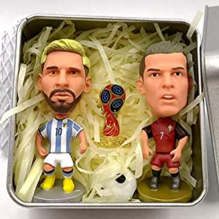 FIFA World Cup Messi and Cristiano Ronaldo Action Figure Model Toys Football Fan Souvenir Gift Box-packed Model football collection