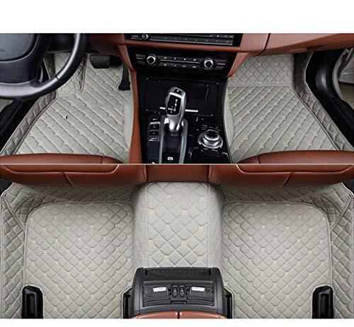 QWERQF Auto Fußmatten Auto Styling Auto Zubehör Auto Aufkleber Teppich Benutzerdefinierte Fußmatten 3D Schwarz/Rot/Grau Auto Teppich,Für Hummer H2 H3 Kaffee