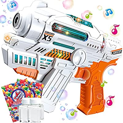 Amazon - 60% Off on  Bubble Guns for Kids with Bubble Machine Music and Light Bubble Makers