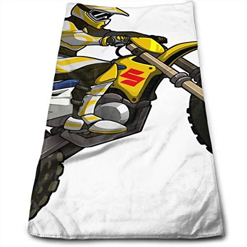YudoHong Got Dirt Bike Motocross Logo Toallas de Microfibra para Manos Toallas de Mano Ultra Suaves para baño