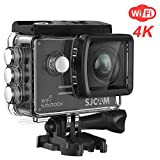 SJCAM SJ5000X Elite 4K WiFi Action Camera Waterproof Underwater Sports Camera- 4k@24FPS 12MP/Gyro Stabilization/2.0 LCD Screen (Waterproof Case & Accessories Included)- Black