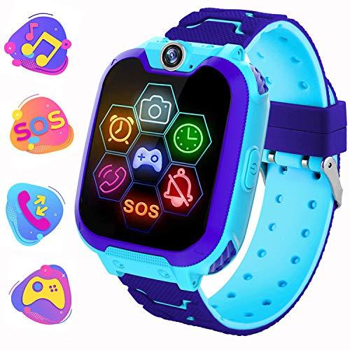 Smartwatch Telefono per bambini, Musica di Gioco Orologio intelligente con Conversazione Bidirezionale Fotocamera Sveglia Calcolatrice MP3 Orologio per Ragazzo Ragazza compleanno regalo giocattolo