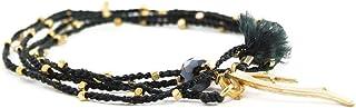 وكامي سوار ملتف على شكل قلادة بخرز | مجوهرات بوهو يدوية للنساء | مجدودة، تجارة عادلة، سوار سحر - قلادة هيبي