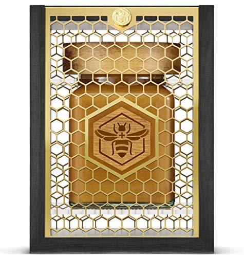 Manuka South Manuka Honig MGO 1122+ (UMF 24+) zertifiziert aus Neuseeland - Premium Qualität im Glas in edler Geschenkverpackung aus Buchenholz und Gold - Limitierte Edition (340g)