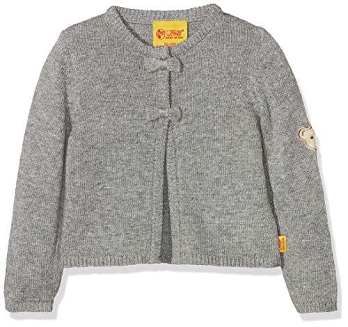 Steiff Baby-Mädchen 1/1 Arm Strickjacke, Grau (Softgrey Melange|Gray 8200), 86