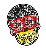Vinyl Stickers Deutsche Flagge Mexikanischer Schädel Aufkleber