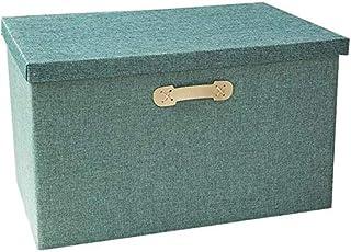 MU Grande boîte de rangement avec couvercle, pliable en tissu, boîte de rangement pour penderie, boîte de rangement pour v...