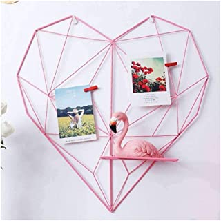 Geekmonkey Metal Heart-Shaped Photo Grid Frame Wall Photos Grids Postcards Mesh Frame Home Bedroom Decoration for Wall Dec...