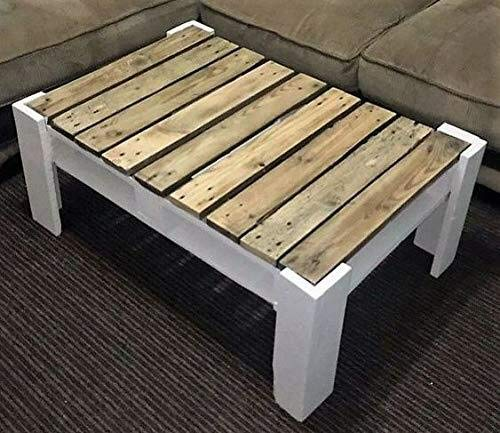 Dydaya Home Mesa Palets - Mesa de Centro - Muebles con palets de Madera para Interior, Salon - Exterior - Patio Jardin terraza (100 x 50 x 40)