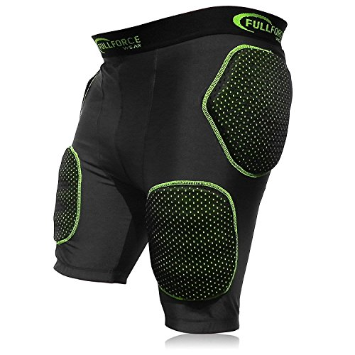 Full Force American Football Bull Rush 5 Pocket Pad Girdle, schwarz/Grün, Gr. M