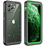 Temdan iPhone 11 Pro Max Waterproof Case, Built in Screen Protector Clear Sound Quality Full Sealed Cover Shockproof Dirtproof Outdoor Rugged Waterproof Cases for iPhone 11 Pro Max 6.5 inch (Green)