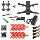 QWinOut Q250 Full Set DIY FPV Drone Camera Quadcopter 250MM Carbon Fiber Frame F3 FC Flycolor Raptor BLS Pro-30A ESC 700TVL Camera FS I6 (No Camera)