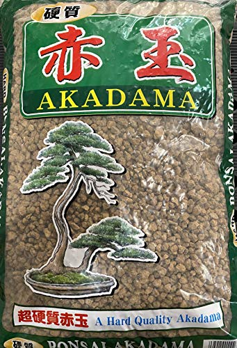 Japanese Super Hard Akadama for Bonsai/Succulent Soil - Medium Size Grains 13 L / 18 Lbs