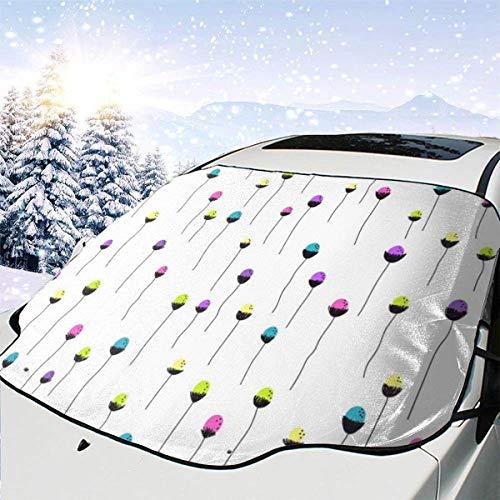 AEMAPE Fundas de Nieve para Parabrisas automotrices con diseño Floral Brillante 0 para Camiones Suvs Mpvs Mantiene el Hielo y la Nieve Fuera