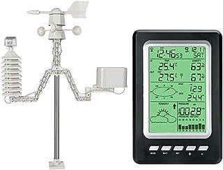 ウェザーステーション 気象観測所 プロフェッショナルな太陽エネルギー天気予報ステーション、農業、庭、バルコニー、家、気圧計、温度湿度計、多機能気象ステーション