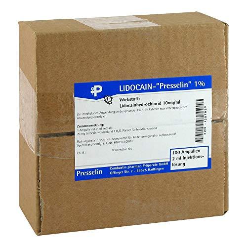 LIDOCAIN Presselin 1% Injektionslösung 100X2 ml