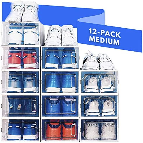 NEATLY Shoe Organizer for Closet Stackable Shoe Storage Shoe Rack for Entryway Clear Plastic product image