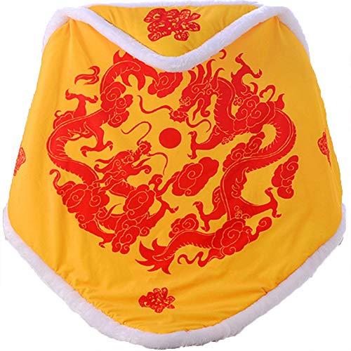 zzyyy Edredón recién Nacido otoño e Invierno Espesado cálido bebé Colcha Manta bebé recién Nacido Regalo,Yellow Dragon-90