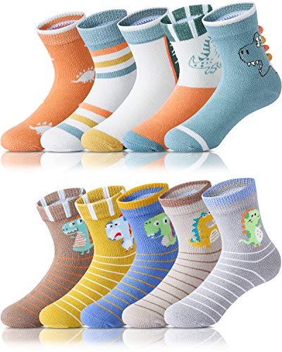 Adorel Jungen Socken Knöchelhoch Babysocken 10er-Pack Dino Paradies 28-31 (Herstellergröße L)