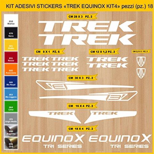 Adesivi Bici Trek Equinox_Kit 4_ Kit Adesivi Stickers 18 Pezzi -Scegli SUBITO Colore- Bike Cycle pegatina cod.0899 (010 Bianco)