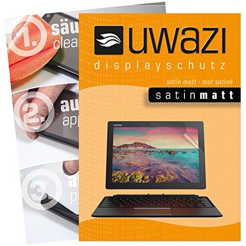 uwazi I 3X Satin-Matte Schutzfolie für Lenovo Miix 720 Bildschirmschutzfolie I Folie I Anti Fingerabdruck I Anti Kratzer