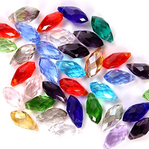 TianBo 100pcs Mixed Color #6010 Crystal Bead 8x13mm Wholesale Drilled Austria Crystal Teardrop Beads BBS6
