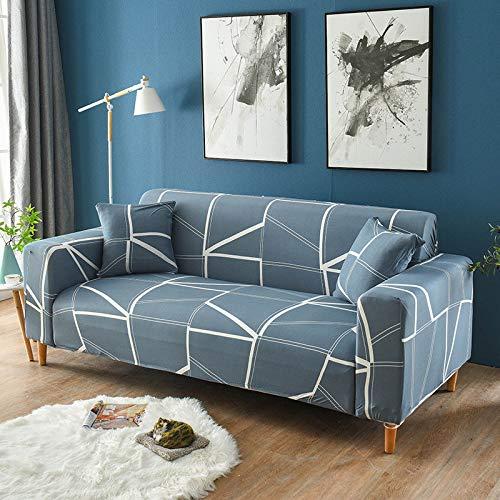 ASCV Funda de sofá Asiento elástico Fundas de sofá sillón Muebles Fundas sofá Toalla 1/2/3/4 plazas A5 3 plazas