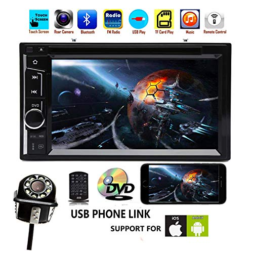 Lowest Price! 2 Din CD DVD 1080P HD Bluetooth AUX Car Stereo Radio Dash Kit 6.2inch USB Phone Screen...