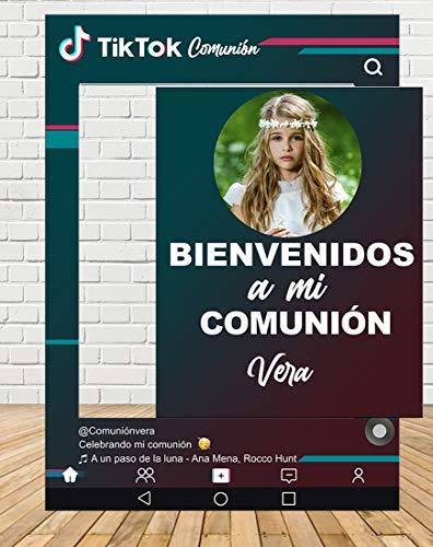 Tu Fiesta Mola Mazo Photocall de Tiktok Comunión 80x110cm  Photocall Redes Económico y Original   Detalles Comunión  Personalizable