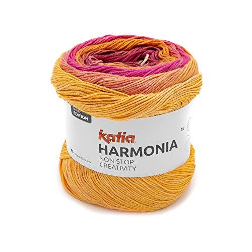 Katia Harmonia Color 203, Baumwollgarn mit Farbverlauf Baumwolle Bobbel Cotton 100% zum Stricken odr Häkeln