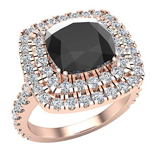 Glitz Design Mujer Niños Hombre Unisex oro 14 quilates (585) oro rosa 14ct Black diamanre negro