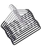 Mahek Steel Cloth Hangers for Wardrobe Standard Hanger Set of 12 (SS-PPCVR )